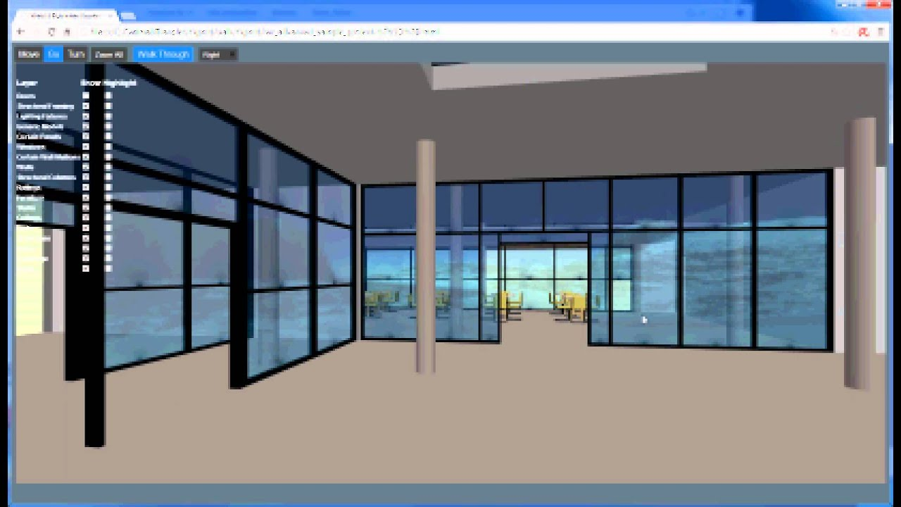 Revit 3d walkthrough in webgl youtube for 3d walkthrough