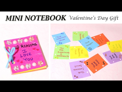 EASY Mini NoteBook | DIY Valentine's Day Gift | Love Quotes | Love NoteBook