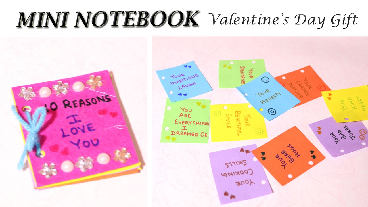 Easy Mini Notebook Diy Valentine S Day Gift Love Quotes Love