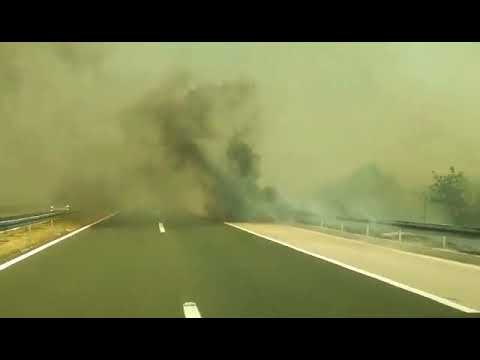 Požar - Benkovac: Vožnja kroz dim