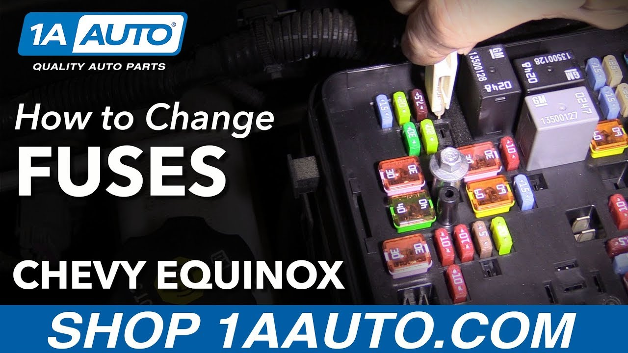 How To Change Fuses 10 17 Chevy Equinox Youtube