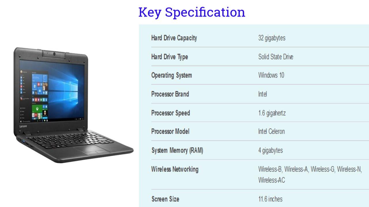 Lenovo N22 11 6 Laptop Model 80S60001US [launch May 2016]