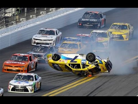 Nascar - Daytona Speedweeks 2015 - Crash Compilation (Original Sound - No Music)