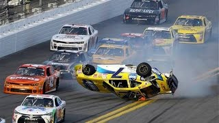 nascar daytona speedweeks 2015 crash compilation original sound no music