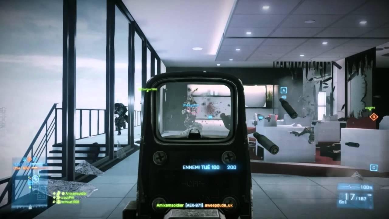 ► Battlefield 3 : Gameplay à Tour Ziba [AEK-971] [FR]