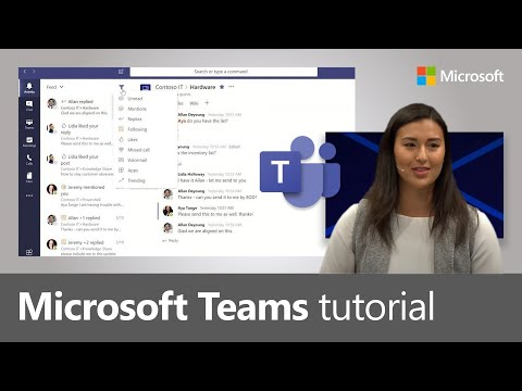 How to use Microsoft Teams, a demo tutorial (2019)