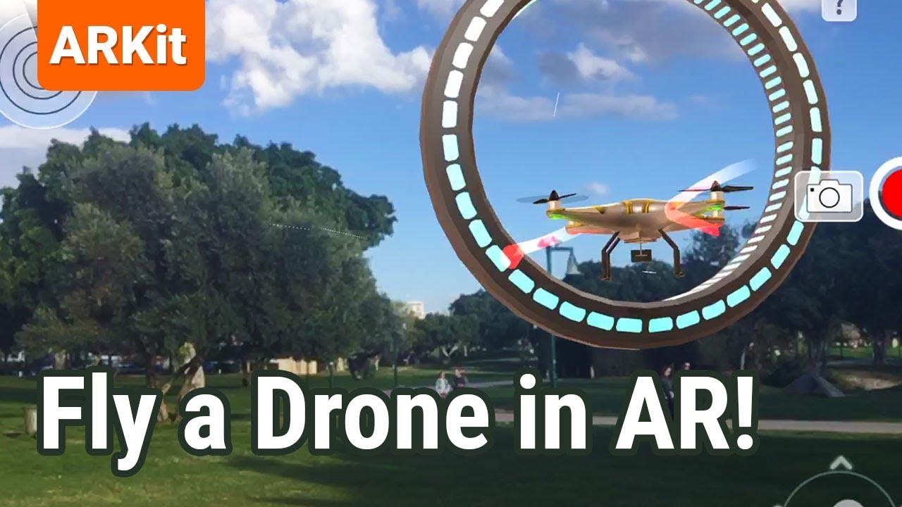 Dronetopolis AR iOS app - Drone flight simulator in Augmented Reality