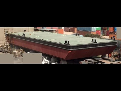 For Sale: 2015 30m x 11m flat top deck PONTOON BARGE under construction - USD 500,000