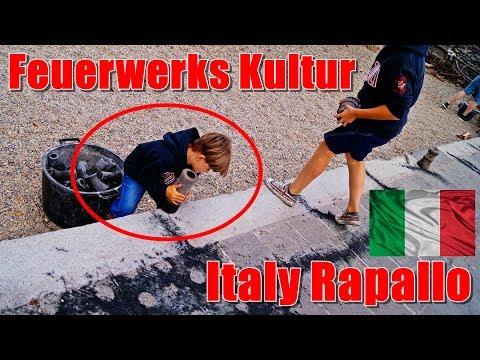 Andere Länder, andere Sitten... Feuerwerk Kultur in Rapallo Italy   PyroExtrem
