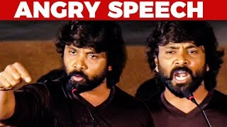 Snehan's EXTREMELY angry speech on TN Government!