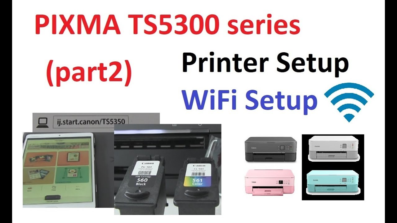 PIXMA TS200 TS200 part20   Setup printer and Wifi connect with Canon  PRINT App