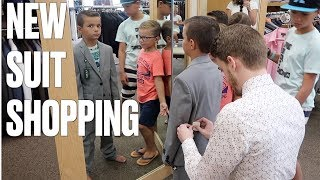 BUYING A SUIT FOR OUR SEVEN-YEAR-OLD SON | SUIT SHOPPING FOR KIDS SUITS | KIDS DRESS CLOTHES