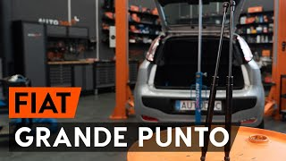 How to change gas struts / tailgate struts on FIAT PUNTO 199 [TUTORIAL AUTODOC]