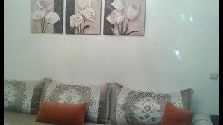 كيف غيرت ديكور صالوني المغربي باقل مجهود وطريقة  تركيبي ورق الحائط