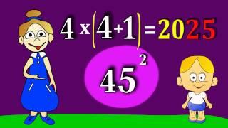 как сделать цифру в квадрате