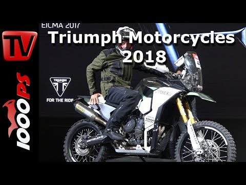 Triumph Motorcycles 2018 - Moto 2 Daytona Sound, New Tiger 800 and Tiger 1200 XC Models