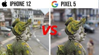 iPhone 12 VS Google Pixel 5 Camera Comparison! WOW 😱