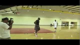Hakeem Olajuwon Teaches LeBron James Post Moves HD