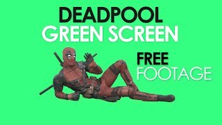 Подгон №1: Deadpool green screen pack (FREE FOOTAGE)