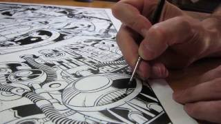 THE PROCESS: Inking Old-School