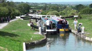 Caen Hill Locks on the Kennet and Avon Canal near Devizes