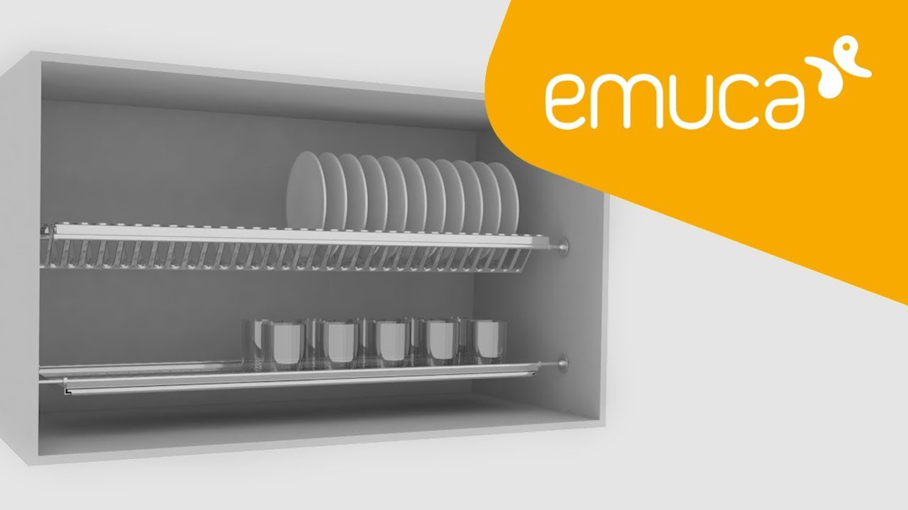 How to assemble an Inox stainless steel plate rack in kitchen furniture -  Emuca