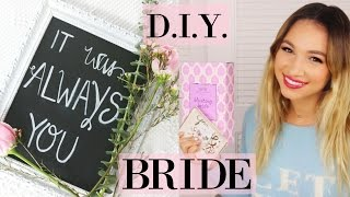 D.I.Y. BRIDE | HOW TO MAKE A CHALKBOARD SIGN & WEDDING HAUL
