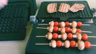 Обзор гриля Delonghi 1030,готовим ужин и десерт
