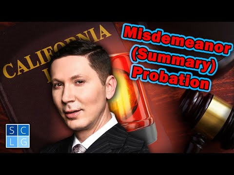 How does misdemeanor (summary) probation work?