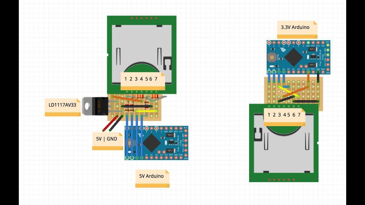 cheap diy sd card to arduino adaptor + stripboard tutorial ... arduino infrared sensor wiring diagram