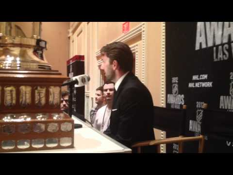 2012 NHL Awards - Henrik Lundqvist - Vezina Trophy Press Conference