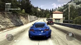 GRID 2 PC Multiplayer Race Gameplay: Tier 3 Upgraded Jaguar XKR-S in Cote D'Azur, Saint Laurent.
