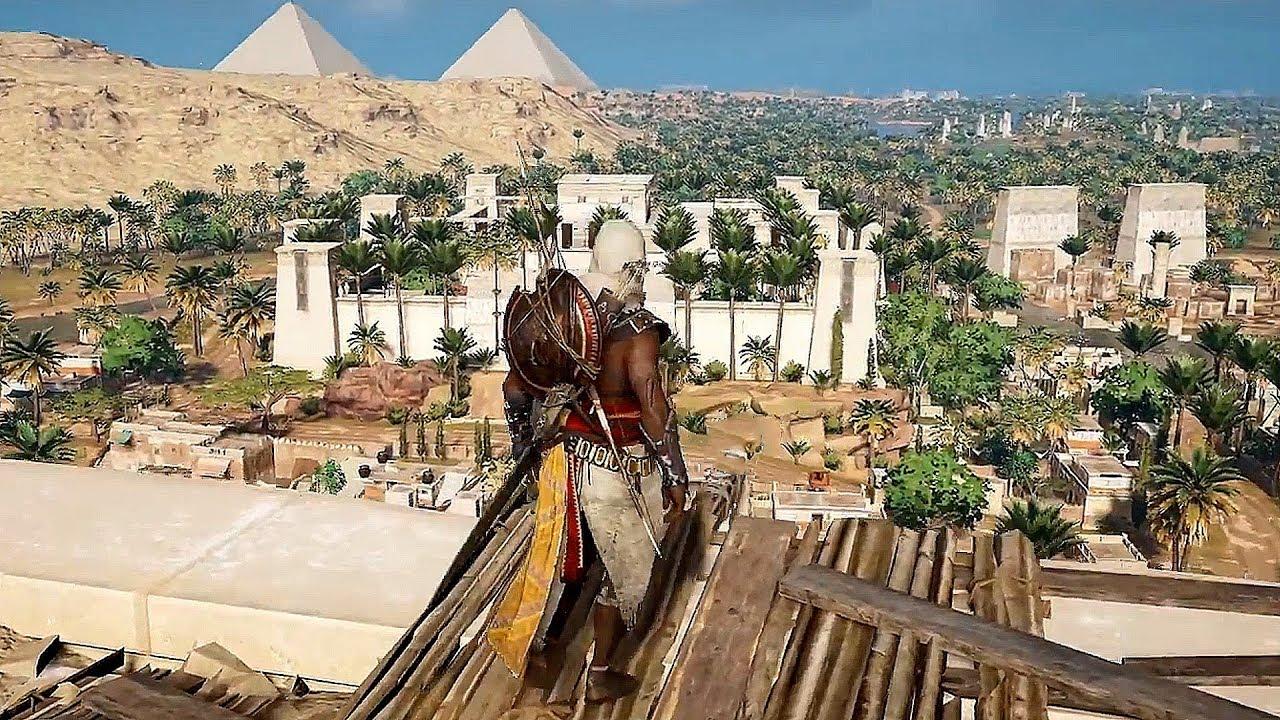 ****assin's Creed Origins Brutal Combat Kills, Leap of Faith & Free Roam