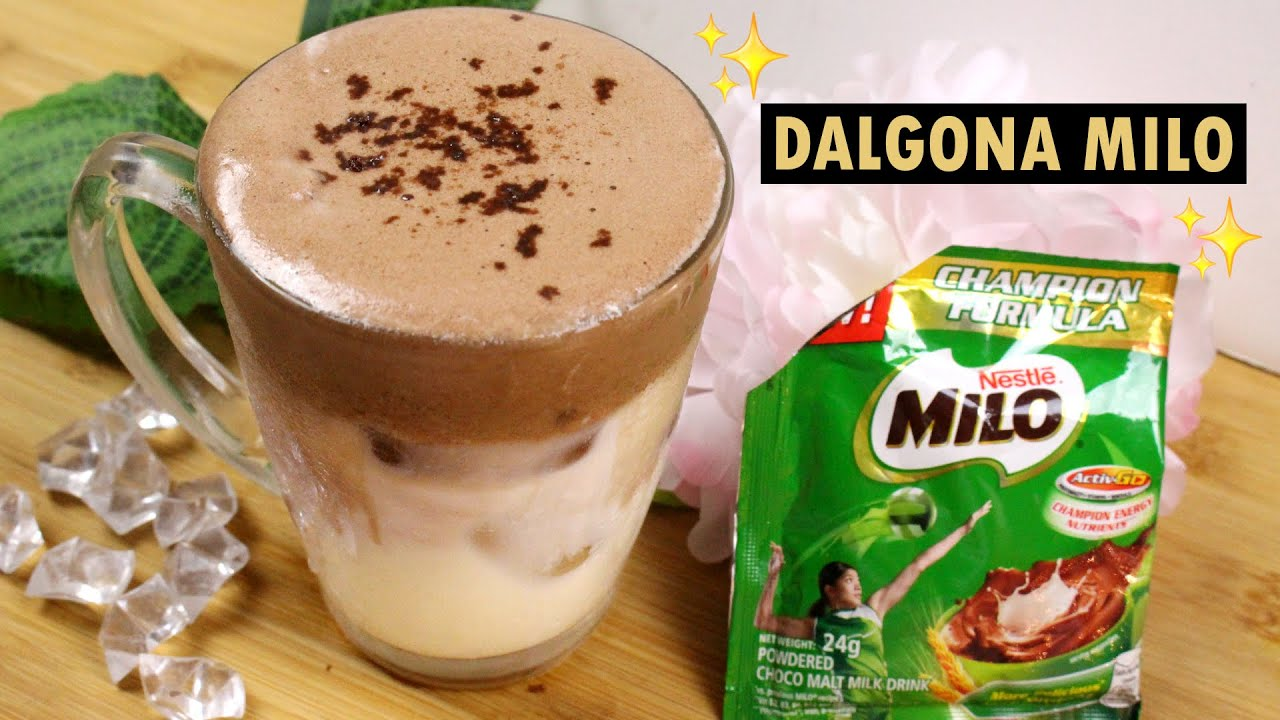 How To Make Dalgona Milo without Ovalette and without Whipped Cream | Tagalog Philippines