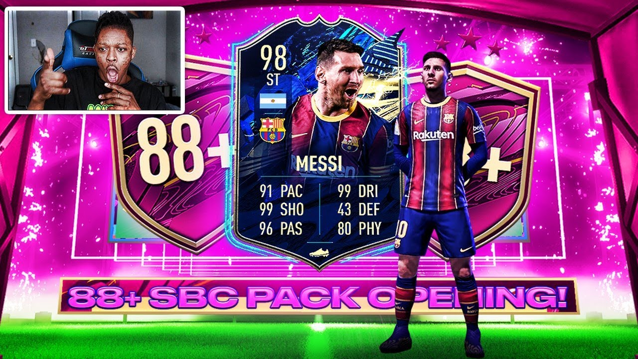 OMG 98 ST MESSI PACKED!!! INSANE 5x 88+ PACK! THE BIGGEST PACK IN FIFA 21