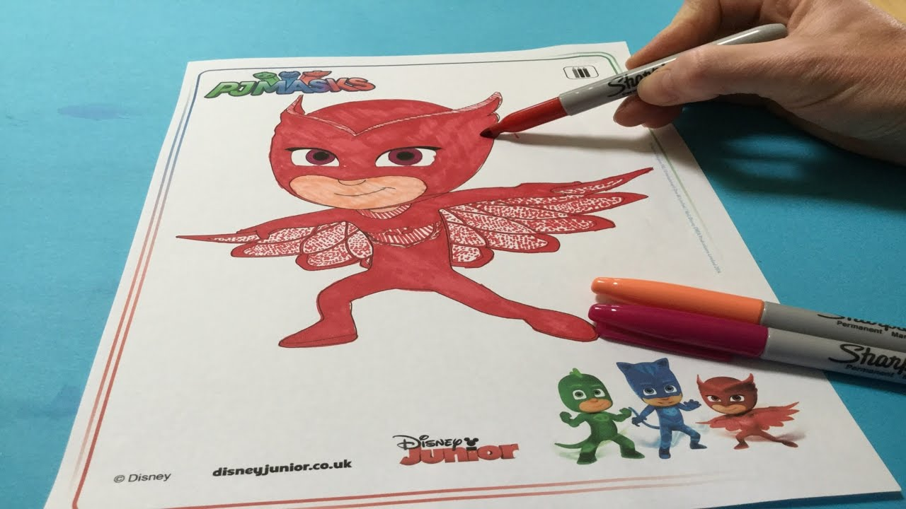 Disney pj masks coloring sheets - Let S Color Owlette Pj Masks Coloring Book Color Disney Junior Pj Masks Owlette