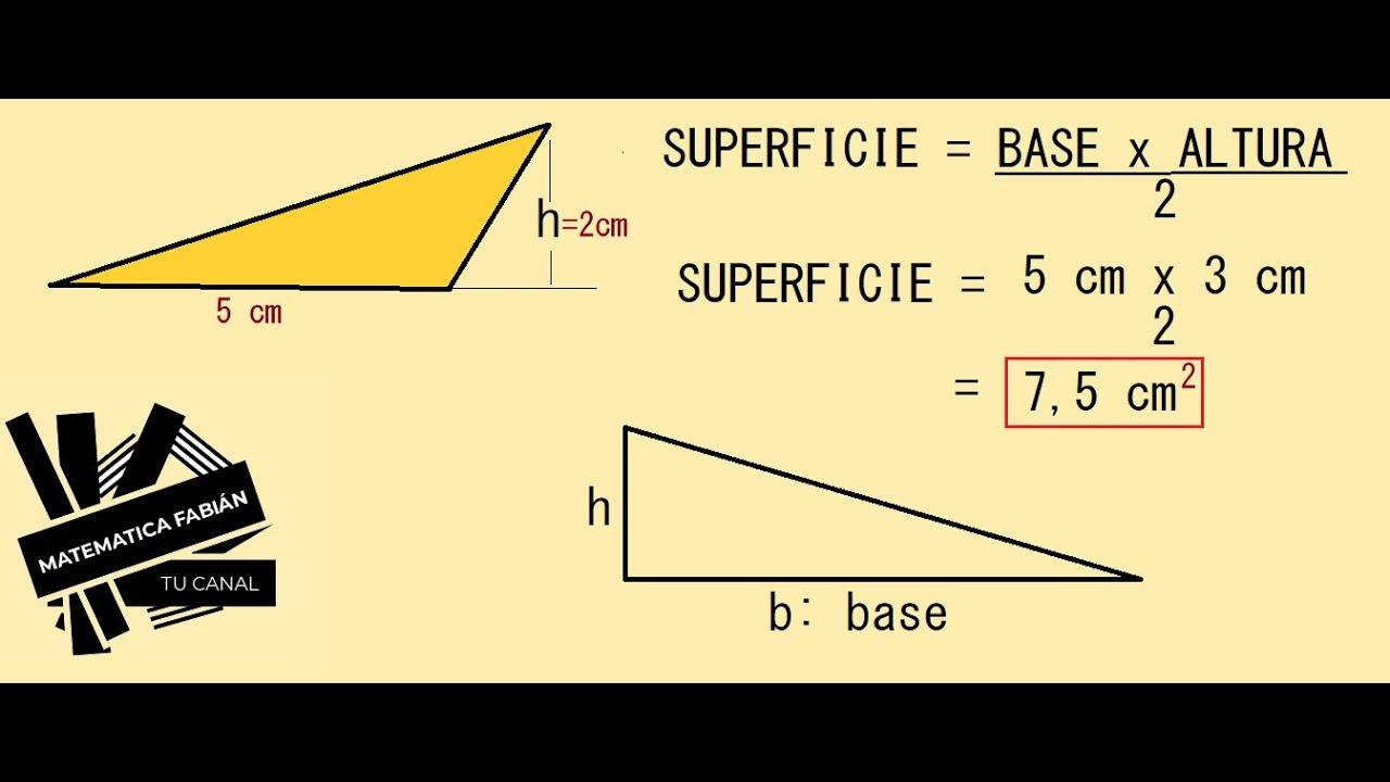 Perímetro Y Superficie O área De Un Triángulo P Principiantes Ejercicios Resueltos Cómo Calcular Youtube
