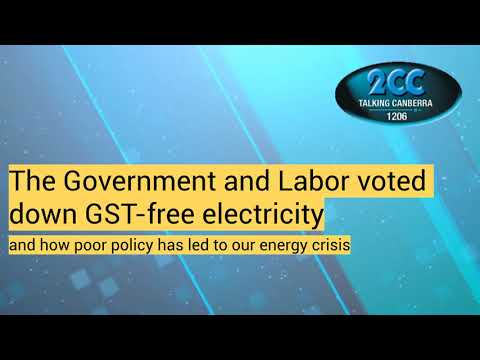 """The Government says """"no"""" to GST-free electricity"""