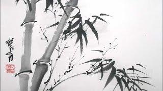 Видеоурок Японская живопись тушью Суми-э.Базовый урок