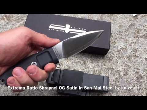 Extrema Ratio Shrapnel OG Satin in San Mai CoS Japan steel by knives.it