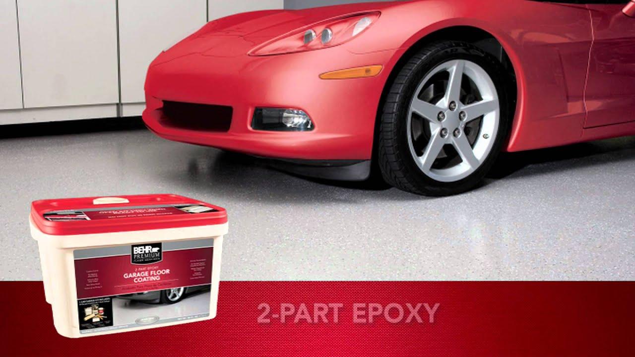 BEHR PREMIUM® 2   Part Epoxy Garage Floor Coating   YouTube