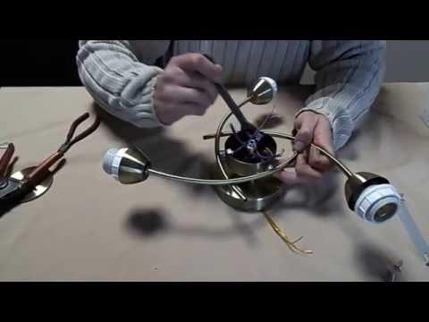 Сборка и подключение трех ламповой припотолочной люстры