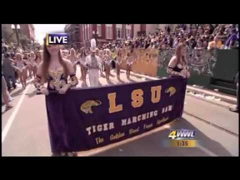 LSU band 'Hold that Tiger' at Gallier Hall  New Orleans.mp4