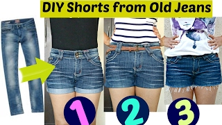 DIY 3 Easy Ways to Turn Jeans Into Shorts Shorts from Old Jeans