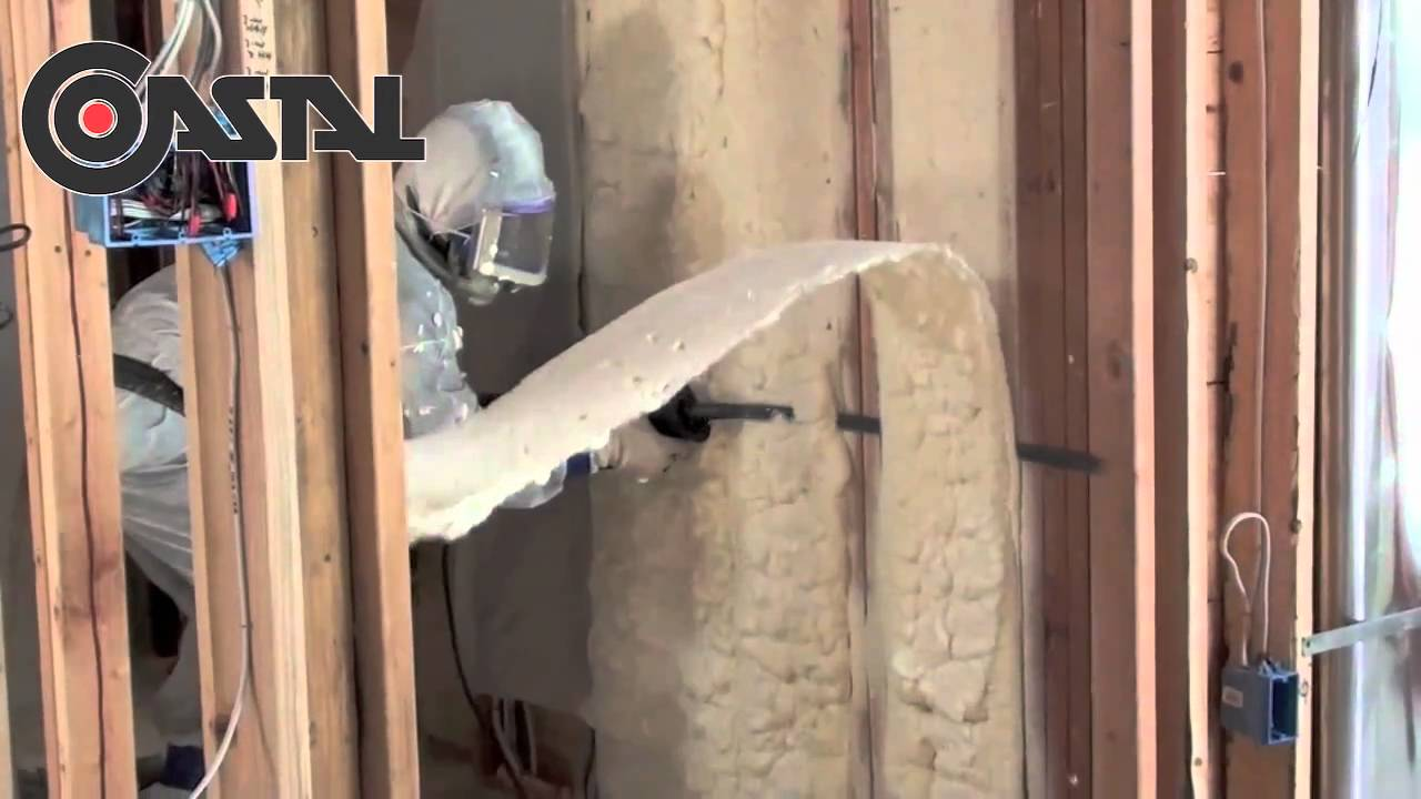 Spray Foam Insulation Exterior Wall Open Cell Application By Coastal Youtube