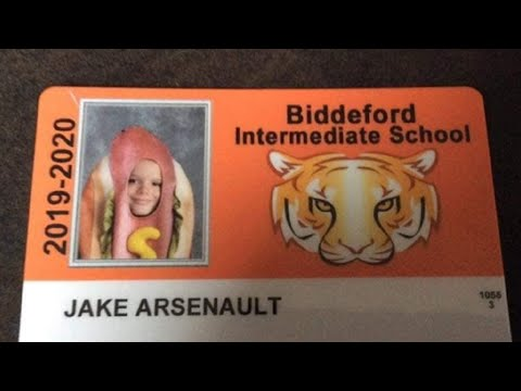 Bill Cunningham - 4th grader dresses as a HOT DOG for school ID after parent's dare him