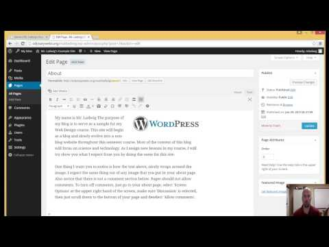 Removing Comments Section From Wordpress Page.