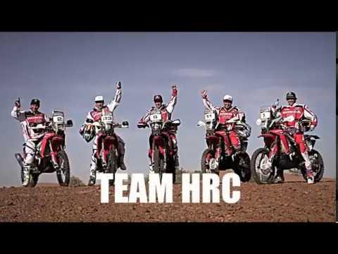 El Team HRC y la CRF Rally listos para el Dakar .