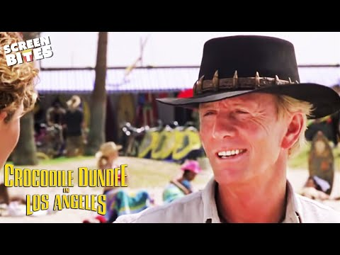 Crocodile Dundee In Los Angeles: Mick Dundee Paul Hogan hits Vence beach