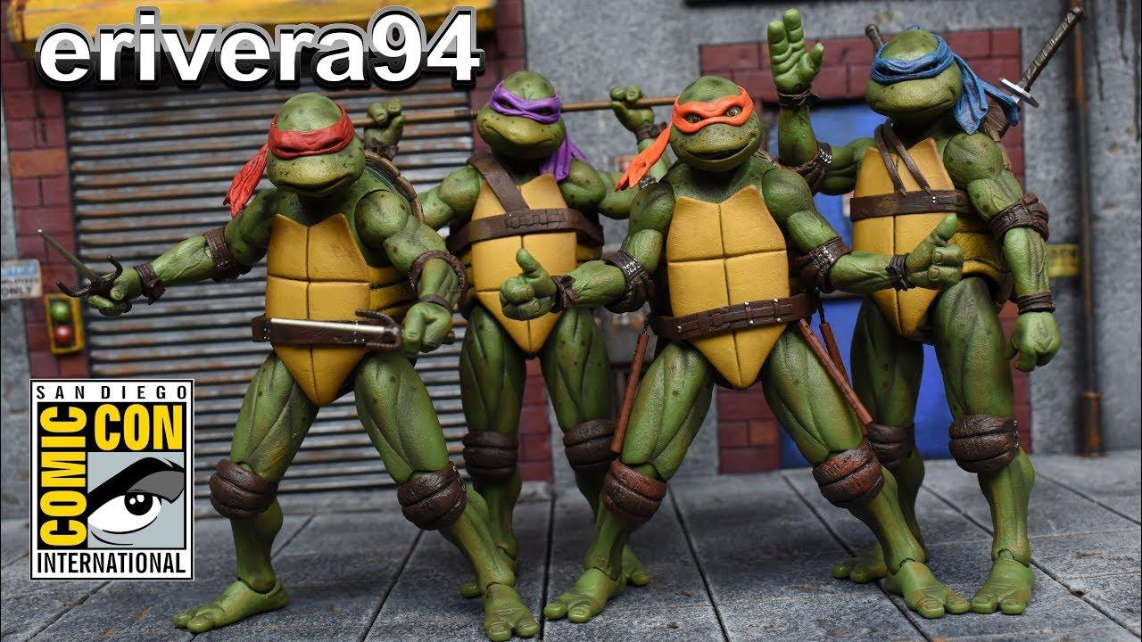 Neca Teenage Mutant Ninja Turtles Sdcc 2018 Tmnt 1990 Movie Action